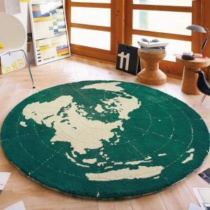 子供部屋に人気!地球をデザインした ラグカーペット TOR-3619(3453) 148x148cm 【ラグ/子供部屋】|shop-kyoto