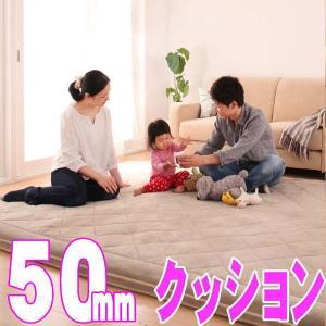 【厚さ50mm】極厚マイクロファイバークッションラグ 【TS-FAMIRE】ファミレ 約190x280cm|shop-kyoto