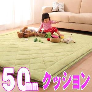 【厚さ50mm】極厚マイクロファイバークッションラグ 【TS-FAMIRE】ファミレ 約90x120cm|shop-kyoto