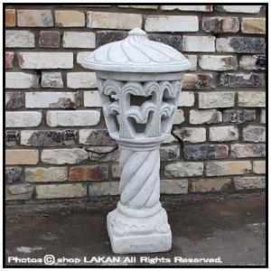 セニガリア庭園灯H80cm 洋風庭園灯籠タイプ石造照明 / ...