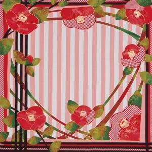 ディア・レディー ふろしき 椿[B4] ギフト セット お祝い 贈答品 内祝 風呂敷 スカーフ 大判 大きい ツバキ 花柄 和風 母の日 雑貨 オシャレ お礼 お返し|shop-magooch