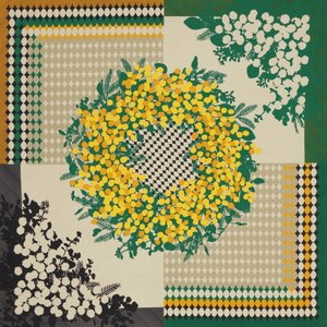 ディア・レディー ふろしき ミモザ[B4] ギフト セット お祝い 贈答品 内祝 風呂敷 スカーフ 大判 大きい 花柄 和風 母の日 雑貨 オシャレ お礼 お返し|shop-magooch