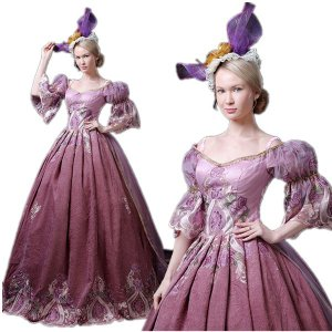 ロングドレス ヴェルサイユ 風 ドレス ヨーロッパ貴族風 お姫様ドレス 公爵夫人 貴族服 演劇 服 ステージ 衣装 ハロウィン 着丈&サイズ指定可 shop-manten