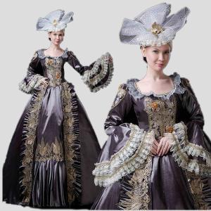 ロングドレス ヨーロッパ貴族の 衣装 仮装 中世貴族風 ステージ 人気お姫様ドレス 時代劇 学園祭 文化祭 舞台 ハロウィン 着丈&サイズ指定可 shop-manten