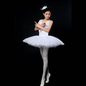 バレエ リトルスワン レオタード ドレス ダンス ステージ 衣装 バレエ レディースのダンス バレエ...