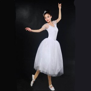 バレエ リトルスワン レオタード ドレス 女性 ダンス ステージ 衣装 バレエ レディースのダンス ...