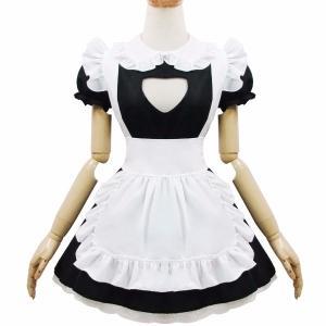 メイド服 コスプレ衣装 胸元 セクシー メイド アリス風 コスプレ ハロウィン フリル レディース コス ワンピース ヘアバンド エプロン 可愛い かわいい|shop-manten