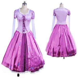 塔の上のラプンツェル 髪長姫 コスプレ衣装 コスチューム衣装 ドレス ハロウィン コスプレ プリンセス ワンピース プリンセス 大人用 文化祭|shop-momo