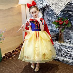 白雪姫ドレス 子供用 キッズ プリンセスドレス 衣装 コスプレ プリンセス ハロウィン 子供 仮装 コスプレ衣装 なりきり コスチューム 女の子 ハロウィン衣装 shop-momo