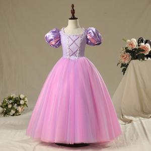 子供ドレス 女の子 子供用 キッズ用 塔の上のラプンツェル ラプンツェル コスプレ 衣装 コスチューム ハロウィン ロング プリンセス ドレス 100-150cm|shop-momo