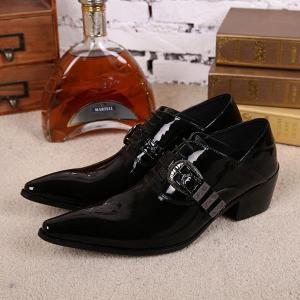 ビジネスシューズ メンズ ポインテッドトゥ ロングノーズ 革靴 紳士靴 ビジネス 結婚式 フォーマル スーツ 冠婚葬祭 結婚式 ブラック 男性 紳士用 ホスト靴|shop-momo