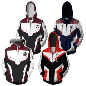 即納 在庫一掃 メンズ レディーズ 男女兼用 パーカー プルオーバー ジャケット アベンジャーズ The Avengers Endgame コスプレ 量子戦衣 コンセプト 3Dプリント|shop-momo