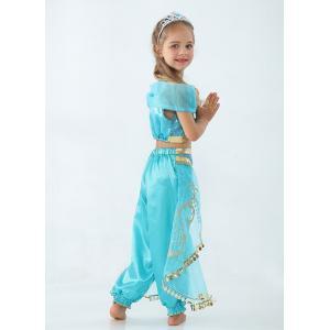 即納 ジャスミン姫 ドレス ハロウィン コスプレ 衣装 プリンセスドレス ブルー コスチューム インディアン 子供用 ワンピース コスプレ 余興 仮装 100cm-150cm|shop-momo|06