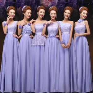 少し訳あり ブライズメイド ドレス パーティードレス ロングドレス 結婚式 ブライダル 2次会 ドレス ワンピース ワンショルダー フォーマルドレス ベアトップ|shop-momo