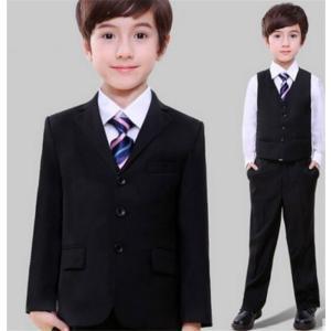 58cbc43bcd5c5 子供スーツ 男の子 かっこいいブラック制服スーツ5点セット 発表会 入学式 卒業式 ...