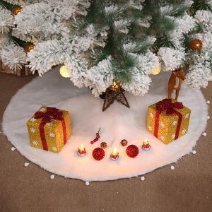 クリスマスツリースカート ファー 立体飾り 下敷物 下周り パーティー オーナメント インテリア 豪華 雰囲気 クリスマス 雑貨 クリスマス飾り 装飾