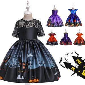 子供ドレス ハロウィン衣装 女の子ドレス 子供ワンピース 魔女 悪魔 コスプレ衣装 ハロウイン変装 ...