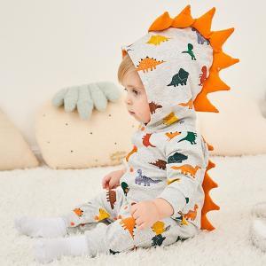 ロンパース 恐竜 着ぐるみ キッズ 赤ちゃん用ロンパース 男の子 女の子 オーバーオール ベビーパジャマ 幼児 子供服 動物 帽子付き 記念写真 撮影用 ハロウィン|shop-momo
