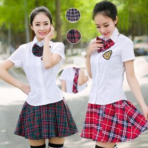 韓国風なんちゃって制服 卒業式 女の子 スーツ セーラー服  JK制服 学園祭 レディース アイドル リボン ネクタイ ミニスカ 制服デート|shop-momo