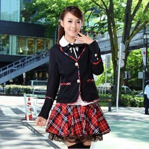女子高生 なんちやって制服4点セット スーツ セーラー服 制服 コスプレ衣装JK制服 学園祭 レディース|shop-momo