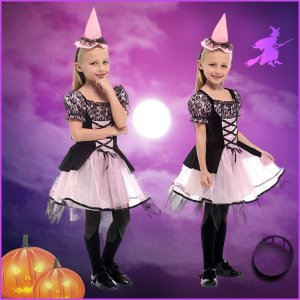 即納 送料無料 ハロウィン コスプレ衣装 子供用 魔女 帽子 女の子 魔法使い ウィッチ デビル 魔法師 手品師 キッズ 巫女 悪魔 yw0475 shop-momo