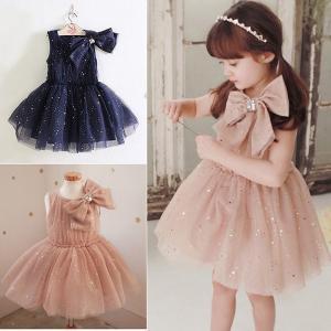 短納期 在庫処分 子供ワンピース 女の子 ドレス 子供服 女児 フォーマル キッズドレス 子どもドレス リボンレース レースワンピース 韓国子供服 ネイビー 発表会|shop-momo
