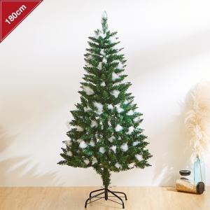 即納 クリスマスツリー 180cm 雪が積もったような ツリー 雪 先雪 ヌードツリー DIY 単品...