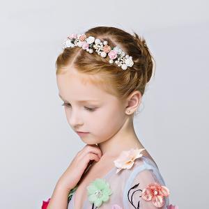 ティアラ 子供 子供カチューシャ  髪飾り フラワー 花びら 髪飾り ヘアアクセサリー ウェディング ブライダル 花冠 フォーマル 発表会 結婚式 shop-momo