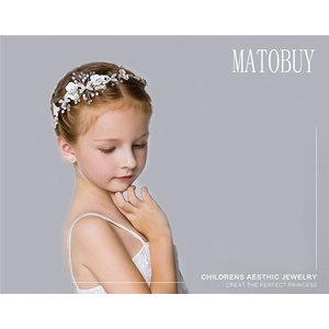 子供髪飾り ヘアアクセサリー 子供カチューシャ 髪飾り  花びら  子供用 キッズ フォーマル  ウェディング ブライダル 発表会 結婚式 卒業式 shop-momo