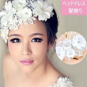 髪飾り ヘッドドレス ヘアアクセサリー  レデイース 結婚式 ウェディング フラワー アクセサリー コサージュ 花びら shop-momo