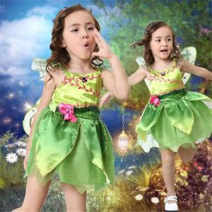 即納 ティンカーベル 妖精 フェアリー ハロウィン コスプレ レインボープリンセス 子供用コスチューム  舞台衣装 発表会衣装にティンカーベル shop-momo