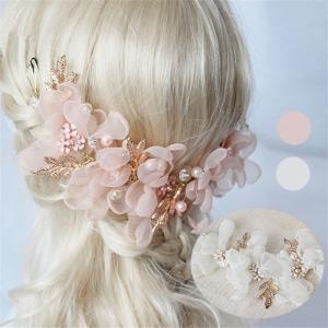 髪飾り ヘッドドレス ブライド ヘアアクセサリー  カチューシャ 造花 レデイース  結婚式 ウェディング フラワー  花嫁 パーティー お呼ばれ shop-momo