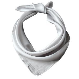 100%シルク レディース ミニ スカーフ 53x53cm 正方形 ネッカチーフ OL バッグ チャーム|shop-n