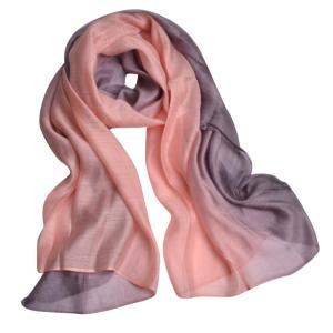 JL モダール シルク 大判 ストール ショール 細さ ふんわり 柔らか 肌触り 爽やか 絹のスカーフ (グレー)|shop-n