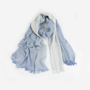 綿麻 スカーフ UV 冷え対策 四季 コットンリネン マフラー 涼しい 紫外線対策 男女兼用 (青色)|shop-n