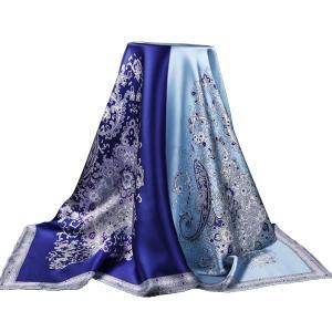 100%シクル スカーフ 大判 レディース 正方形 上質 華やか 結婚式 花柄 プレゼント110cm*110cm|shop-n