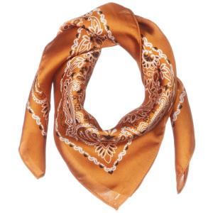 [ウィゴー] ペイズリー スカーフ F キャメル|shop-n