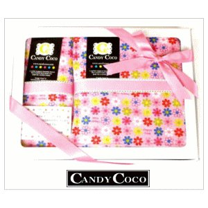 出産祝い 女の子 おむつポーチ と2点ギフト ピンクミニフラワー|shop-nico2