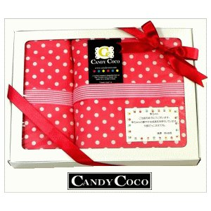 出産祝い 女の子 おむつポーチ と2点ギフト チェリーピンクドット|shop-nico2