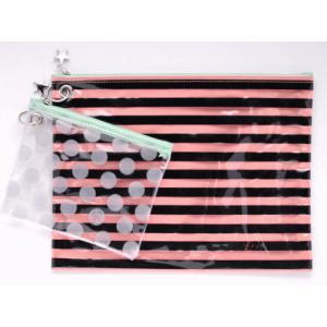 おしりふきケース&おむつポーチ 本革ストラップ 3点セット FLクローバー・グリーンセット/ピンク|shop-nico2|02