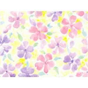 包装紙フラワーピンク・ピンクリボン付き|shop-nico2