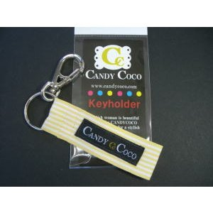 キーホルダー メンズ 車/レモンストライプ shop-nico2