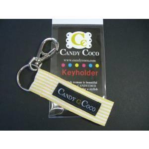 おしゃれキーホルダー【CANDYCOCOキャンディココ・レモンストライプ】アクセサリーに!|shop-nico2