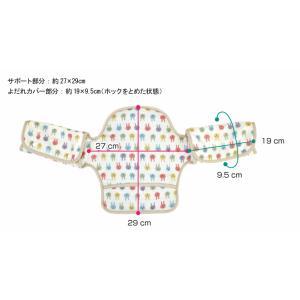 抱っこひも よだれカバー 首かっくん防止ヘッドサポート【バディバディ】日本製 よだれパッド ダブルガーゼ スナップボタン だっこひも用 ヘッドサポート shop-nico2 08