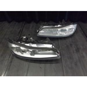 日産 S15 シルビア 純正 左右 ヘッドライト HID シルバー塗り加工|shop-partslandnagoya