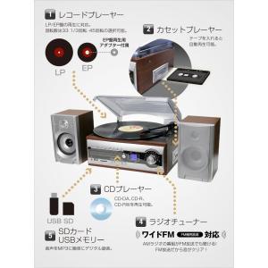 レコード・カセット・CD・カセット・ラジオ・USB・SD あらゆる音源をカバー  マルチレコードコンポ|shop-phoenix|02