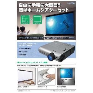 【ポイント5倍】クマザキエイム Bearmax DVD一体型LEDプロジェクターホームシアターセット(60インチスクリーン付き) NRT-350S|shop-phoenix