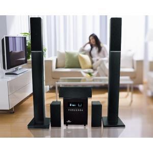 スマホ対応!定価¥98000 タワー型 最新 5.1ch ホームシアター システム  チェリーウッド|shop-phoenix