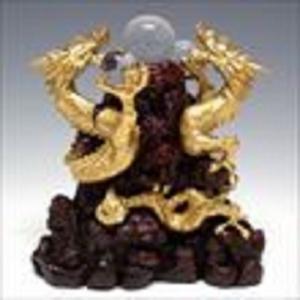 風水山水龍 双龍 (中) 20cm 溶解水晶 3個付き|shop-phoenix