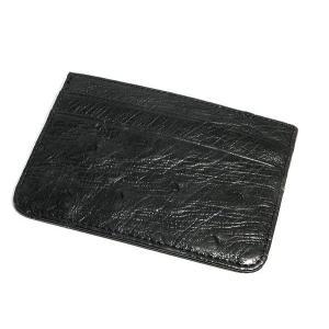 未使用品 オーストリッチ 名刺入れ カードケース ブラック shop-sakae